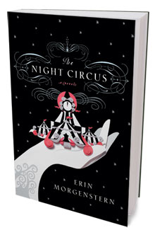 book cover, night circus