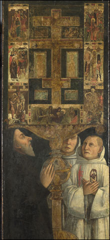 PLAIN AND YET PARTICULAR Bellini's painting of Cardinal Bessarion and his reliquary.