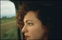 SELF-PORTRAIT ON TRAIN, GERMANY: The quality of Nan Goldin's work and her local connections made her an obvious - and necessary - choice for the ICA's new permanent collection.