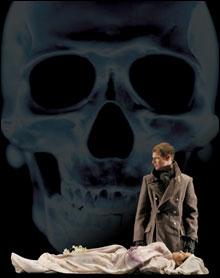 REVITALIZED CLASSICS: Andrew Schwartz as Hamlet, Emily Bennett as Ophelia