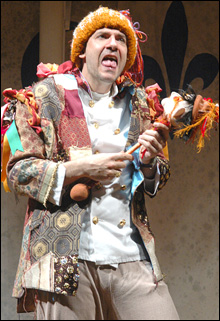 ALL'S WELL THAT ENDS WELL: John Kuntz doubles as Bertram and Lavatch the Clown.