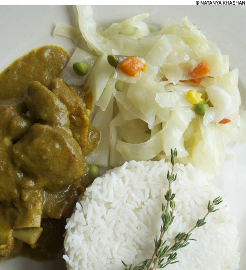 Lorenz Island curry goat