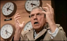 MAD AS HELL, and not going to take it anymore: Peter Finch in Network