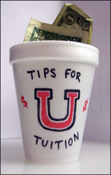 Tip Jar for tuition