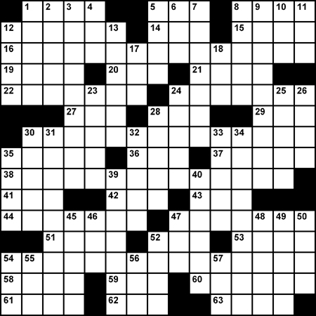 Crossword: 'I repeat' - sounds familiar . . . it's all coming back to me now . . .