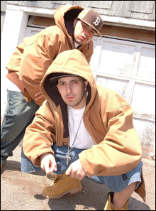 STRAIGHT OUTTA LAWRENCE: Termanology and Ed Rock take their hip-hop seriously.