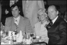 PARTNERS: Pat Nee (left), at a wedding with his wife, Debbie, and Whitey Bulger.