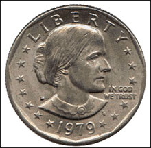 A WOMAN'S WORTH: By 1981, the Anthony dollar joined the Dwight D. Eisenhower dollar coin in currency oblivion.