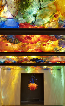 glass art on display at the Museum of Fine Arts in Boston